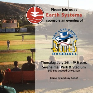 Earth Systems and SLO Blues Baseball