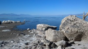 Obsidian Butte looking across the from the Salton Sea